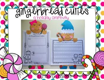 Gingerbread Cuties: A gingerbread holiday craftivity