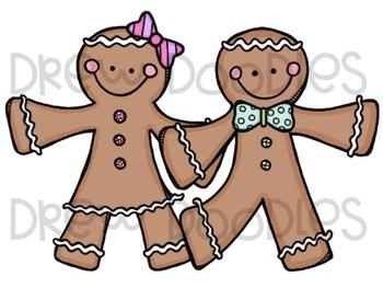Gingerbread Cuties Digital Clip Art Set