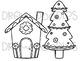 Gingerbread Cuties Digital Clip Art Set- Black Line Version