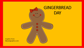 Gingerbread DAY all you need - craft, writing, parent letter, snack