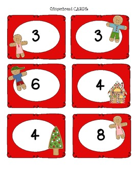 Gingerbread DOUBLES Fact Game! *FREEBIE*