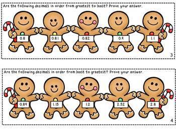 Gingerbread Decimal Math Centers *Common Core Aligned*