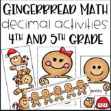 Gingerbread Math Activities for Decimals