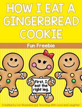 Gingerbread Description Writing Freebie