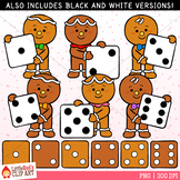 Gingerbread Dice Clip Art
