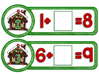 Gingerbread Differentiated Math and Literacy Centers for Christmas and December