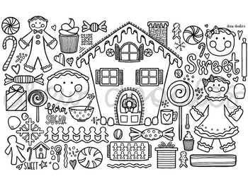 Gingerbread Digital Coloring Page