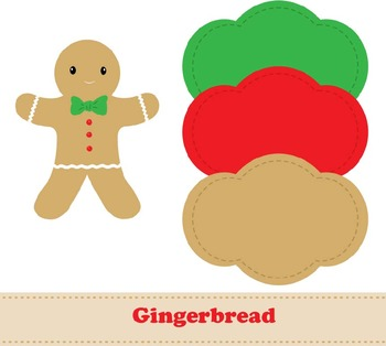 Gingerbread Digital Paper & Clipart