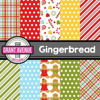 Gingerbread Digital Papers