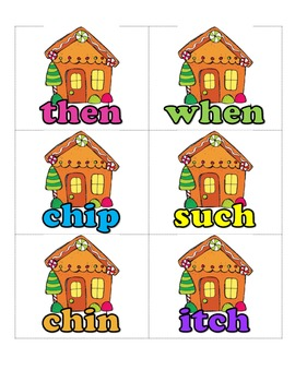 Gingerbread Digraph Game - Where is the Gingerbread Man?