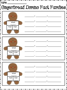 Gingerbread Domino Fact Families
