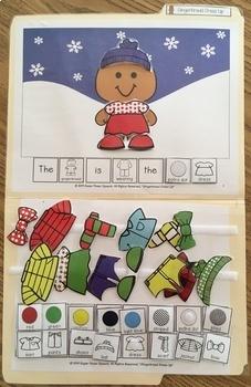Gingerbread Dress Up (File folder activity to increase language skills)