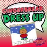 Gingerbread Dress Up (File folder activity to increase lan