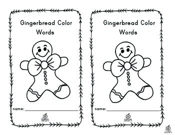 Gingerbread Emergent Reader Color Words