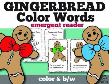 Gingerbread Emergent Reader Color Words