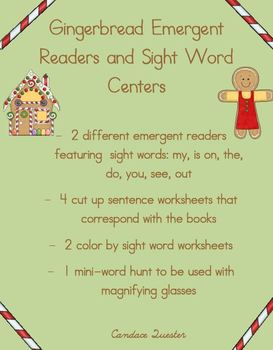 Gingerbread Emergent Readers Pack