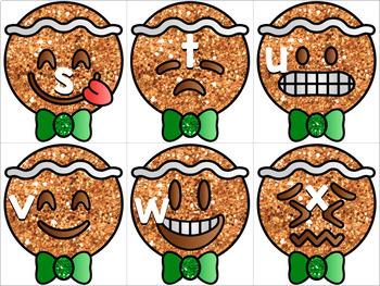 Gingerbread Emoji Letters!