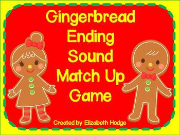 Gingerbread Ending Sound Match Up Game
