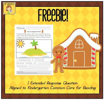 FREEBIE! Gingerbread Engineering STEM Activity and Extended Response Question