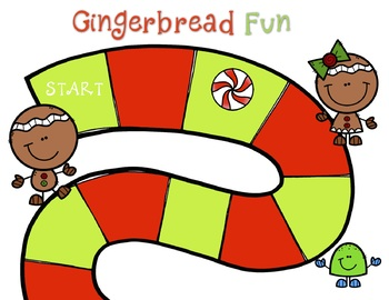 Gingerbread FREE Editable Reading or Math Game