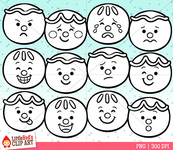 Gingerbread Faces Clipart
