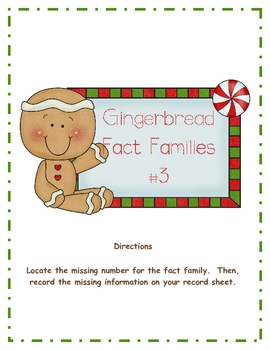 Gingerbread Fact Families #3