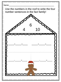 Gingerbread Fact Families to 20