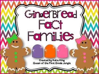 Gingerbread Fact Families to 20 Freebie