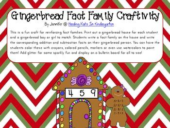 Gingerbread Man Fact Familiy Craftivity