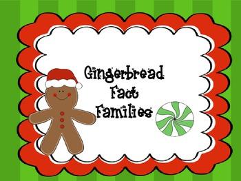 Gingerbread Math Fact Famillies