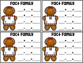 Gingerbread Fact Family Cards