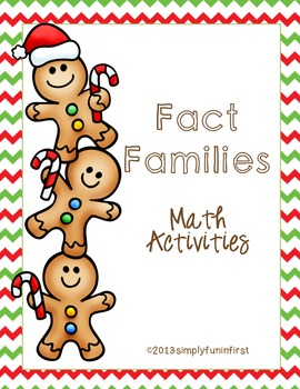 Gingerbread Fact Family Math Activities {FREE}