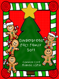 Gingerbread Fact Family Sort - Holiday Math Game -Common Core Aligned: 1.OA.B