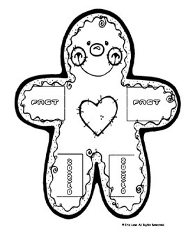 Gingerbread:  Fact and Opinion Gingerbread Man