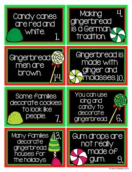 Gingerbread Fact and Opinion Workstation