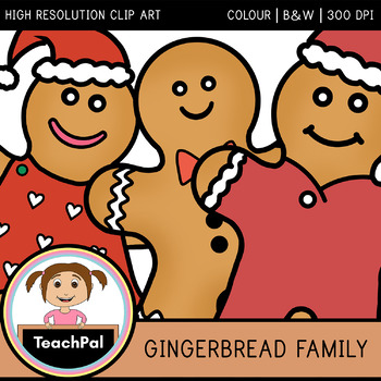 Gingerbread Family Clip Art