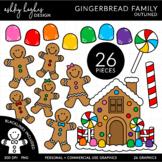 Gingerbread Family Clipart {A Hughes Design}