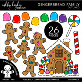 Gingerbread Family Clipart {A Hughes Design}