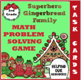 Gingerbread Family Math Word Problem Task Card Games and Activities for 3rd