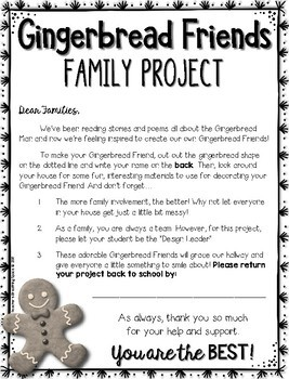 Gingerbread Family Project --- Fun Family Project for Christmas / December