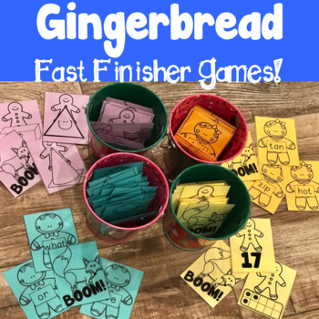 Gingerbread Fast Finisher Games