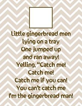 Gingerbread File Folder Freebie!