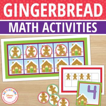 Gingerbread Man Activities | Gingerbread Math Activities | Christmas Math