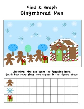 Gingerbread Find & Graph Activity (3 Total)