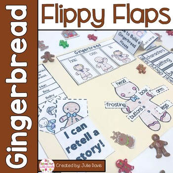 Gingerbread Flippy Flaps Interactive Notebook Lapbook