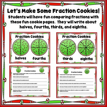 1/2 OFF 24 HRS! Gingerbread Fraction Games, Centers, and Worksheets