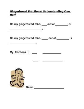 Gingerbread Fractions Understanding One Half