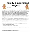 Gingerbread Friend Letter Template