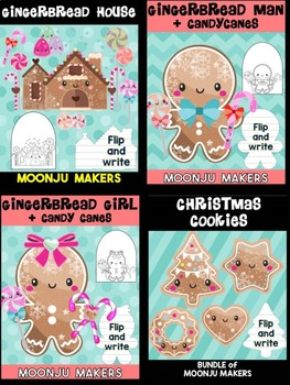 Gingerbread Friends - Bundle of Moonju Makers, Crafts, Decor, Winter Activity