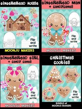 Gingerbread Friends - Bundle of Moonju Makers, Crafts, Decor, Winter Activity